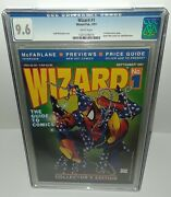 Wizard 1 Cgc 9.6 White Pgs 1st Wizard Price Guide Mcfarlane Spider Man Cover Art