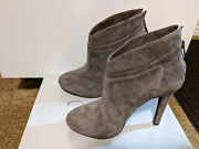 Jessica Simpson Aggie Booties Suede High Heel Ankle Boots Charcoal Size 7m Nice