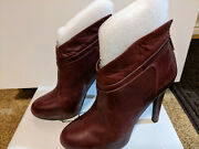 Women's Jessica Simpson Aggie Wine Ankle Boots - Size 7m Nice