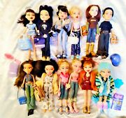 Huge Lot 12 Bratz Dolls - Lots Of Accessories - Fully-clothed - Loose Dolls S-2