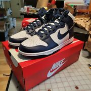 New Nike Dunk High Championship Navy Size 10 Dd1399-104 In-hand Deadstock