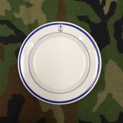 Vintage Us Navy Officers Mess Wardroom 6 1/4 Rolled Edge Plate Buffalo China