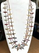 3 Zuni Fetish Necklaces By Rosita Kaamasee Hand Carved 65 Birds And 1 Bear