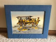 Lakewood Fire Dept Old Time Firetruck Print Artwork On Canvas By H. Hargrove