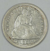 1853-o Liberty Seated Quarter With Arrows And Rays Extra Fine Silver 25c