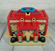 Disney Gas 'n Wash Car Station Play Set Mickey Mouse Clubhouse Carry Playset