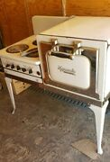 Vintage Monarch Stove Electric 3 Burners Oven