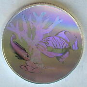 St.thomas 1998 Coral Fish Hologram 1oz Silver Coinproof