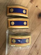 Us Army Shoulder Boards Major Male Aviation Gold Filigree Marlow White