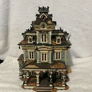 Department 56 Snow Village Halloween Grimsley Manor Lights And Sounds Spooky