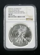 2012 W Annual Dollar Coin Set Burnished Silver Eagle Ngc Ms 70