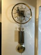 Vintage 1970s George Nelson For Howard Miller Lucite Wall Clock With Key