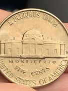 1946 S Jefferson Nickel Rare Five Steps Re-punched Mint Mark Uncirculated