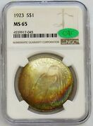1923 Us Peace Silver Dollar 1 Masterpiece Collection Ngc Ms 65 Cac