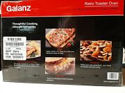 New Galanz Retro Toaster Oven, True Convection, 1500w. Choose Bebop Blue Or Red