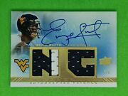 2013 Ud Quantum Geno Smith Rookie New Generation Dual Patch Auto 4/5 Seahawks