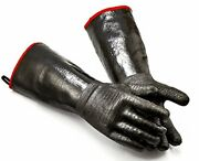 Bbq Grill Gloves 17 Inches,932℉,heat Resistant,smoker, Size 8/m-17inch-932℉