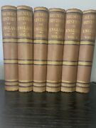6-vol. Set Hardcover Books 1878 Hume's History Of England Rare Collectible Books
