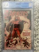 Avengers 57 - Marvel 1968 Cgc 7.5 1st Appearance Of The Silver Age Vision
