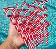 Peppermint Swirl Ornaments Candy Cane Christmas Tree Decor 8pc Set