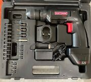Craftsman 7.2v 3/8' 2-speed Cordless Drill – W/battery, Case, Charger, Bits