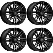 4 Pack 4/137 Msa M40 Rogue Wheel 14x7 4.0 + 3.0 For Bombardier Outlander 650