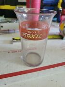 Vintage Moxie Red Label Drinking Glass – 4 Tumbler Rare F2