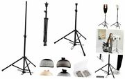 Wig Stand Wig Head Stand Adjustable Tripod With Foot Panel Black Panel