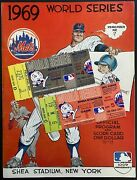1969 New York Mets World Series Ticket Stubs Games 4 And 5 Clincher With Program