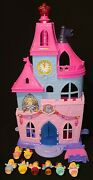 Fisher-price Little People Disney Princess Magical Wand Palace Doll House 8 Doll