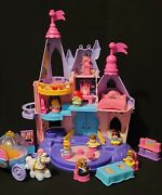Fisher-price Little People Disney Princess Songs Palace Dollhouse 18 Pcs Music