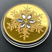 2006 Canada Gold 300 14kt Coin - Low Mintage - Crystal Snowflake