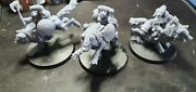Space Wolves Thunder Wolf Cavalry X3 Compatible With Warhammer 40k Assembled.