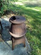 Antique Cast Iron Pot Belly Stove Sears Roebuck Andco Number 102-148