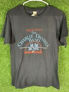 Vintage Charlie Daniels Band Shirt On Tour 1986 50/50 Large Screen Stars 80s