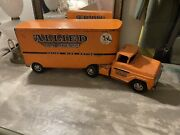 Vintage 1960and039s Tonka Toys Orange Allied Van Lines Toy Semi Truck And Trailer