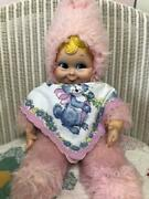 Rushton Vintage Rubber Face Doll Snow Baby Pink