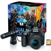 Canon Eos 90d Dslr Video Creator Kit With Dm-e100 Microphone Ef-s 18-55mm Lens