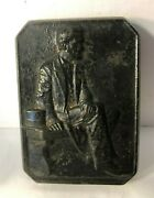 Kraeuter And Co. Abraham Lincoln Memorial Cast Iron Paperweight Plaque