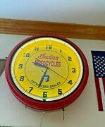 Vintage Indian Motorcycles Wall Clock