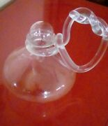 Rare Dorothy Thorpe - Erlenmeyer Flask With Stopper And Lucite Pretzel Handle