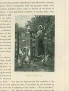 Antique Goose Girl Geese Nature House Landscape Pasture Farm Country Small Print
