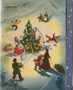 Vintage Christmas Victorian Tree Decorations Snow Lights Ornaments Greeting Card
