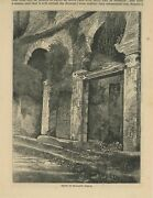 Antique Ancient Roman Market Shops Trajanand039s Forum Rustic Topiary Italy Print
