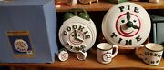 Treasure Craft Cookie Time Cookie Jar- Pie Time Plate-salt And Pepper Time-mugs
