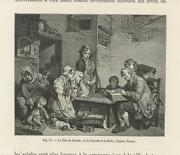 Antique Father Mother Family Child Bible Study Rustic House Miniature Print