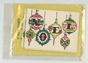 Vintage Sealed Angel Cove Great Neck Ny Christmas Noel Tiny Gift Ornament Tags