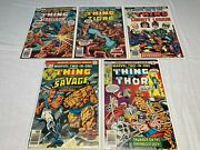 Marvel Two In One 18 19 20 21 22 Fine- To Vg/f Thor Tigra Scarecrow Doc Savage