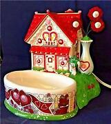 Nib Retired 2004 Dept 56 M And Mand039s Valentineand039s House Lighted House And Candy Dish