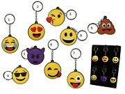 Emoji Emotion Rubber Keyring Funny Smiley Faces Gift Key Chain Ring New Emoticon